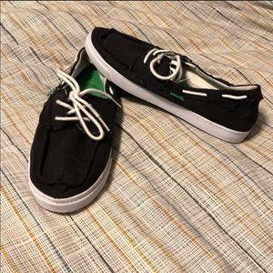 Sanuk Womens Sailaway Shoes Black size 8